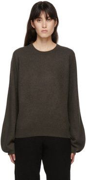 Green Cashmere Mini R-Neck Sweater