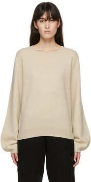 Off-White Cashmere Mini R-Neck Sweater