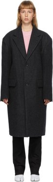 Grey Wool Two-Button Coat