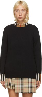 Black Cashmere Icon Stripe Sweater