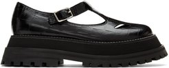 Black T-Bar Loafers