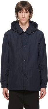 Navy Ealing Hooded Jacket