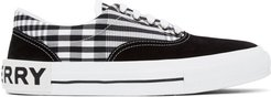 Black and White Vintage Check Skate Sneakers