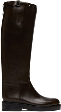 SSENSE Exclusive Brown Riding Boots