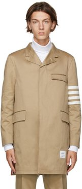 Tan 4-Bar Unconstructed Chesterfield Coat