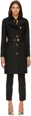 Black Belted Safety Pin Coat