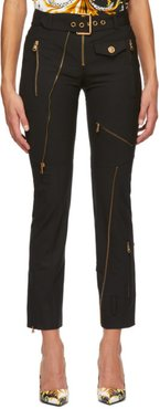Black Multi Zip Trousers