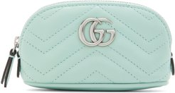 Green Mini GG Marmont Coin Pouch