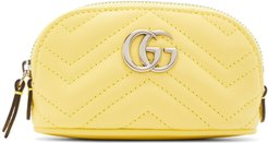 Yellow Mini GG Marmont Coin Pouch