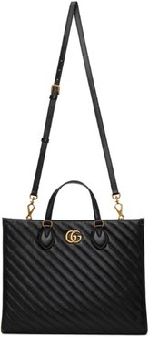 Black Medium GG Marmont 2.0 Tote