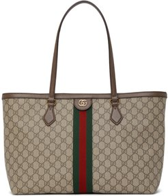 Brown and Beige Ophidia Supreme Tote Bag