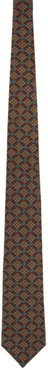 Brown GG Diamond Print Tie