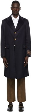 Navy Eco Cashmere Coat