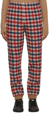 Red and Blue Wool Check Lounge Pants