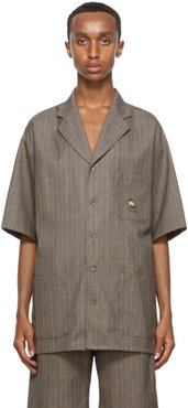Brown Cauliflower Short Sleeve Shirt