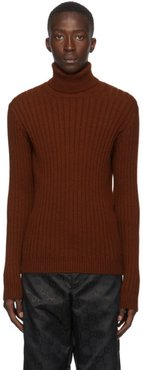 Burgundy Alpaca and Wool Turtleneck