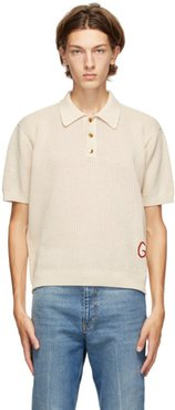 Beige Knit Polo