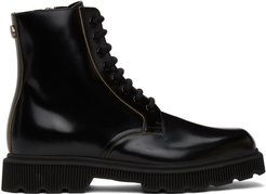 Black Mystras Lace-Up Boots