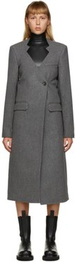 Grey Wool Cut-Out Oversized Coat