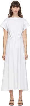 SSENSE Exclusive White Gathered Mid-Length Dress