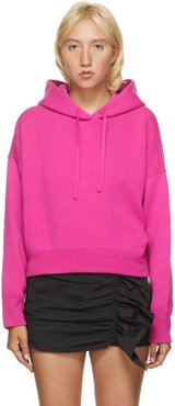 Pink Wool and Cashmere Crop Hoodie