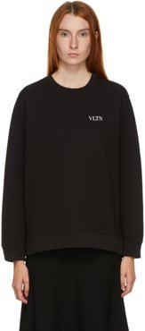 Black Tiny VLTN Logo Sweater