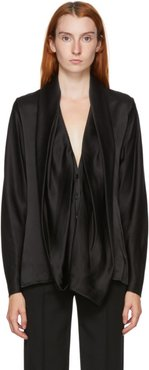 Black Silk Dali Blouse