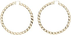 Gold Les Creoles Gourmette Hoop Earrings