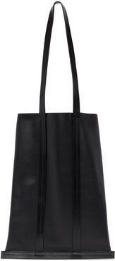 Black Leather Line Tote
