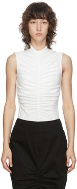 SSENSE Exclusive White Sleeveless Ruch Front T-Shirt