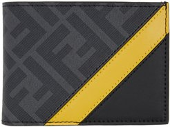 Black and Yellow Forever Fendi Bifold Wallet