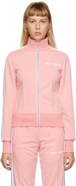 Pink Fitted Track Jacket