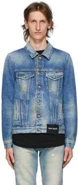 Blue Denim College Eagle Jacket