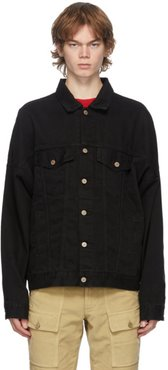 Black Denim Desert Skull Jacket