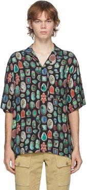 Multicolor Jewels Bowling Short Sleeve Shirt