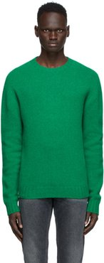 Green Recycled Wool Logo Sweater