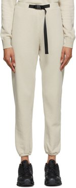 Beige Vintage Fleece Belted Lounge Pants