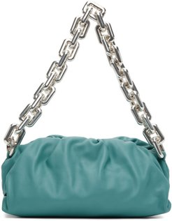 Blue The Chain Pouch Clutch