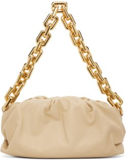 Beige The Chain Pouch Clutch