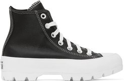 Black Chuck Lugged High Sneakers