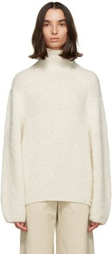 Beige Oversized Yuna Alpaca Sweater