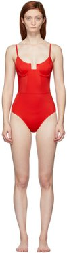 Red The Veronica One-Piece Swimsuit