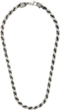Silver French Rope Necklace