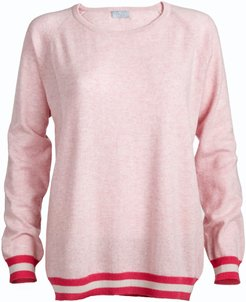 Philly Pink Cashmere Jumper with Neon Stripes