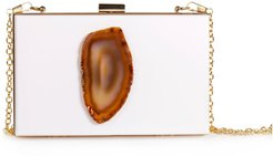 Agate Evening Clutch White & Natural