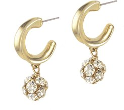Crystalline Hoops Gold