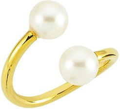 Double Pearl Vermeil Ring