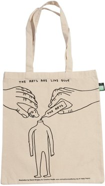 David Shrigley Creative Health Tote Bag - The Arts Are Like Glue
