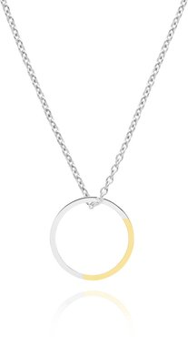 Golden Ratio Circle Necklace In Gold & Silver