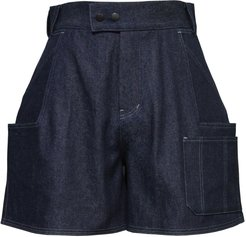 Dark Blue Raw Denim Shorts